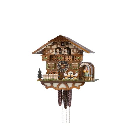 Cuckoo Clock 1 Day Chalet - 1 Day Musical Bavarian Chalet Cuckoo Clock with 2 Beer Drinkers In Biergarten By Hönes