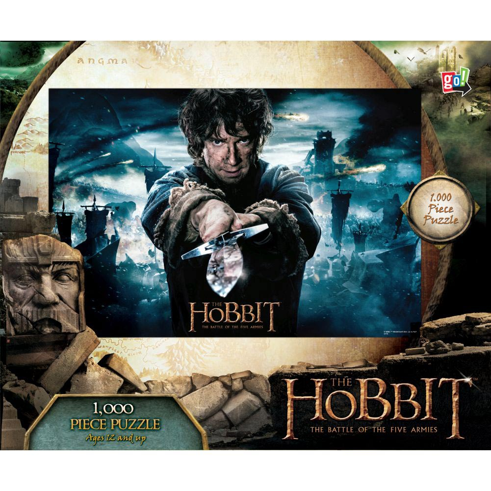 The Hobbit Bilbo and Sword 1000 Piece Puzzle,  Hobbit by Go! Games
