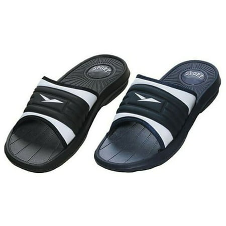 a64a178159f4 Shoe Shack - Men s Rubber Slide Sandal Slipper Comfortable Shower Beach Shoe  Slip On - Walmart.com