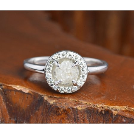 Bezel Set 3 Carat Raw Rough Black Diamond Solitaire Engagement Ring in 10k Rose Gold Bezel Set Solitaire Ring