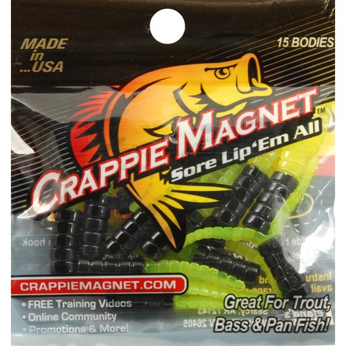 Leland's Lures Crappie Magnet Plastic Lure, Chartreuse and ...