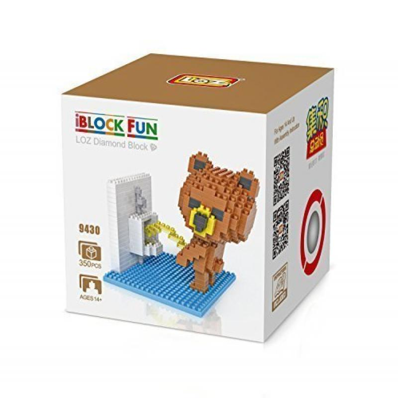 GRHOSE LOZ Diamond Blocks Nanoblock Brown Bear Peeing Educational Toy 350pcs by