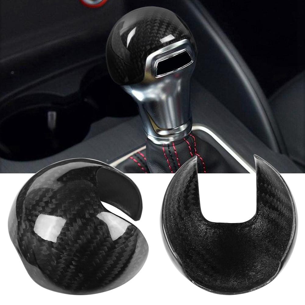 Qiilu Auto Pommeaux de leviers de Vitesse Couvercle de Bouton de Changement de Vitesse en Cuir pour Mazda 3 BK BL 6 II GH 05-14 5 CR CW