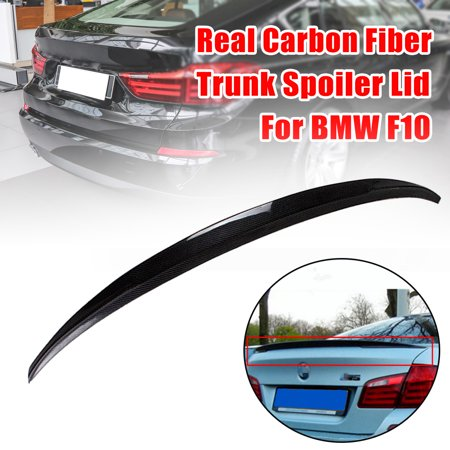 M5 Style Carbon (For 11-16 BMW F10 5 Series 535i 528i Carbon Fiber M5 OE Style Trunk Spoiler)