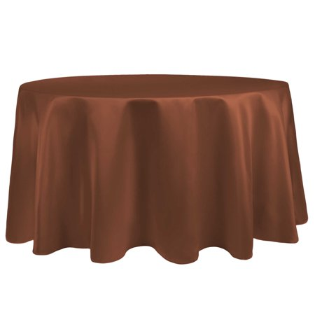 Ultimate Textile Bridal Satin 84-Inch Round Tablecloth