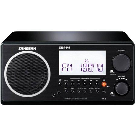 sangean digital am fm table top radio black. Black Bedroom Furniture Sets. Home Design Ideas