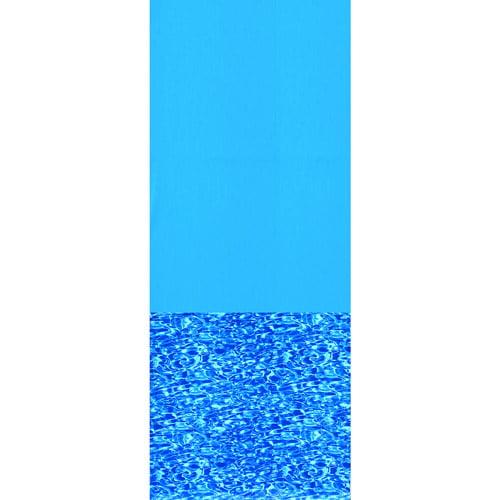 "Swimline Swirl Bottom 28' Round Overlap Pool Liner, 48""/52"" Deep, Blue"