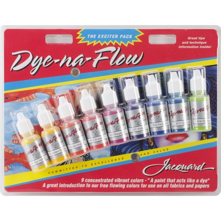 Jacquard Dye-Na-Flow Exciter Pack .5oz 9/Pkg-