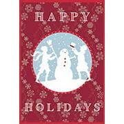 "Happy Holidays Snowman Christmas House Flag Holiday Yard Banner 28"" x 40"""