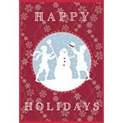 "Happy Holidays Snowman Christmas House Flag Holiday Yard Banner 28"" x 40"""