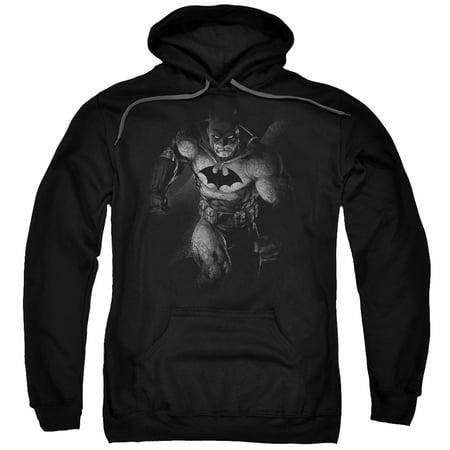 Batman Materialized Mens Pullover Hoodie (Mens Batman Hoodie)