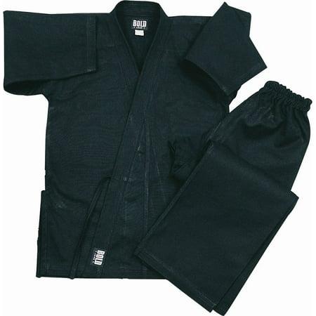 Heavyweight Uniform (Black Heavyweight 12oz Brushed Cotton Karate Uniform by Bold)