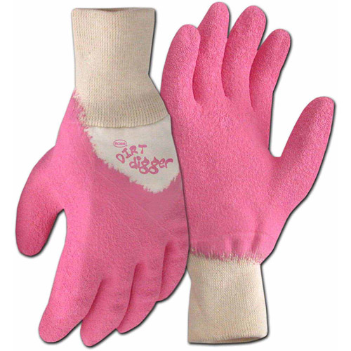 Boss Gloves 8401PM Medium Pink Dirt Digger Gardening and General Purpose Gloves