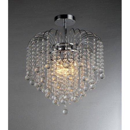 - Warehouse of Tiffany Mary RL4577 Crystal Semi Flush Light