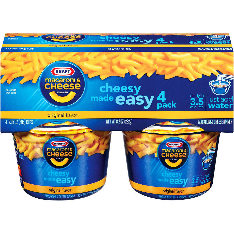 Kraft Easy Mac Macaroni & Cheese Dinners, 4ct