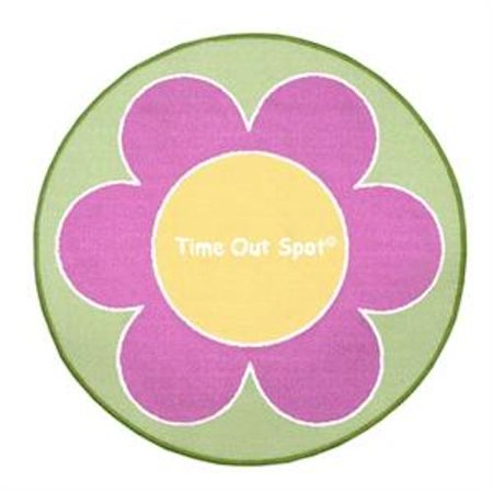 Child To Cherish Time Out Spot Rug Pink Flower