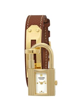 Hermes Kelly White Dial Tan Leather Ladies Watch 023725WW00