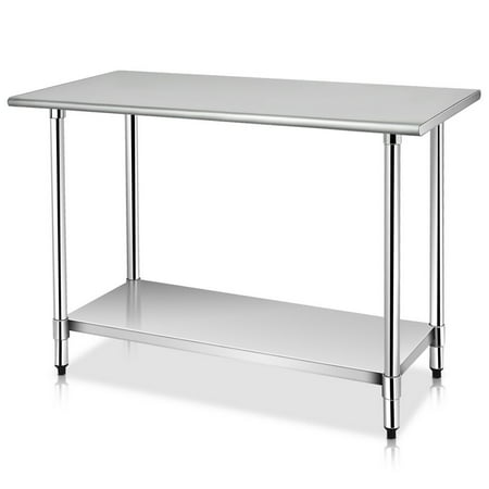 Costway 24'' x 48'' Stainless Steel Work Prep Table Commercial Kitchen (Food Prep Table)