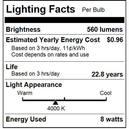 Sunlite R20/LED/8W/D/40K 8 Watt R20 Lamp Medium (E26) Base Cool White