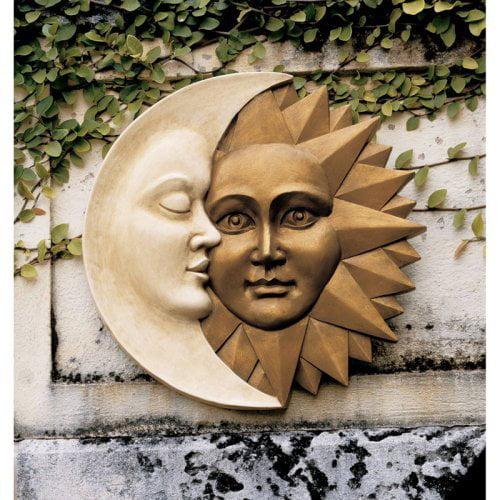 Design Toscano Celestial Harmony Sun and Moon Wall Sculpture