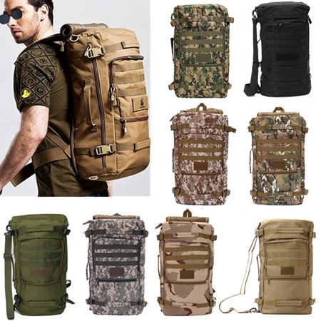50L Waterproof Outdoor Military Tactical Pack Sports Backpack Bag Camping Fishing Travel Bag Portable Shoulder (Best 72 Hour Backpack)