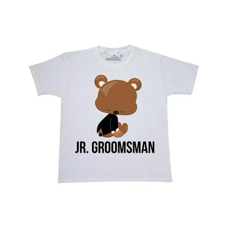 Jr. Groomsman wtih Teddy Bear for Wedding Youth T-Shirt