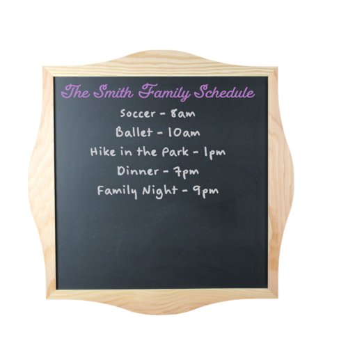 Winston Porter Decorative Framed Wall Mounted Chalkboard
