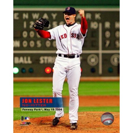 Vertical Overlay - Jon Lesters 2008 No hitter Celebration Vertical with Overlay Photo Print