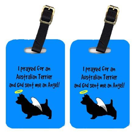 Pair of 2 Australian Terrier Luggage Tags