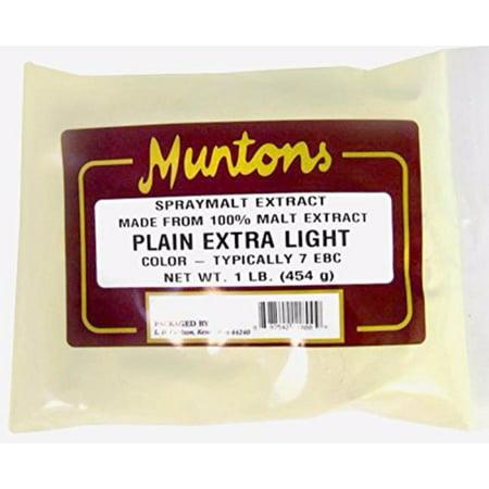 Muntons Plain Extra Light Dry Malt Extract 1 Lb. - Muntons Dry Malt Extract