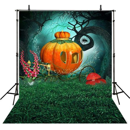 GreenDecor Polyester Fabric Happy Halloween Backdrops For Photography 5x7ft Photo Background Pumpkin Backdrops Photographic Backdrops](Happy Halloween Backgrounds 2017)