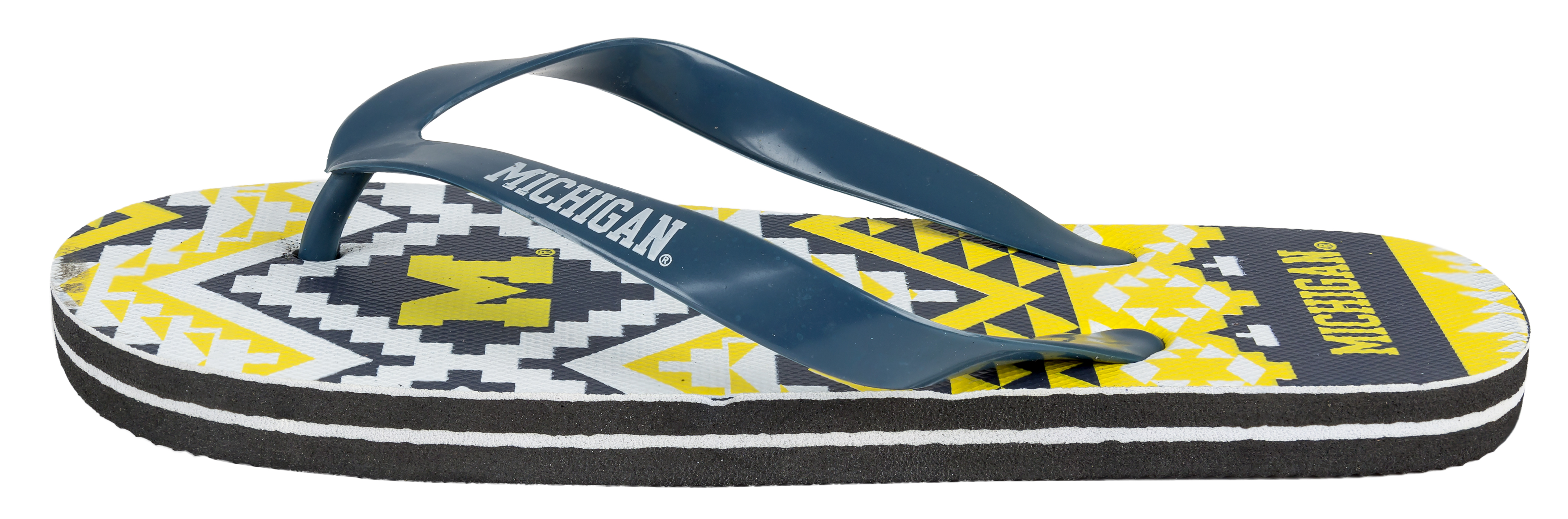 College Flip - Flop Womens Aztec Size Small Pick Team - University of Michigan