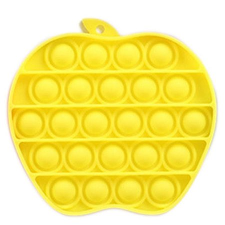 Apple Yellow Push Pop Bubble Creative Sensory Toy for Autism Stress Reliever, Push Pop Bubble Fidget Toy, Autism Stress Reliever, Silicone Bubble Toy, Squeeze Pop It Fidget Toy Anxiety Game