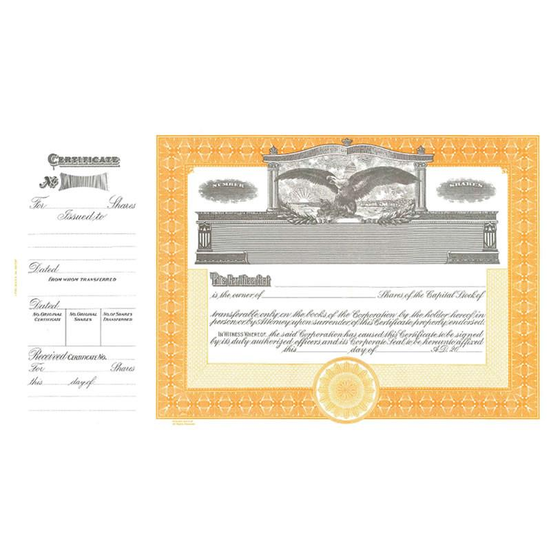 Goes 365 Stock Certificate - Pack of 25