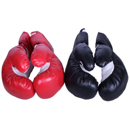 Triple Threat Quick Strap Training Boxing Gloves - Red vs Black - Adult -
