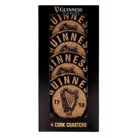 Guinness Cork Coasters - Harp - 4 Pack 4 Pack Ceramic Coasters