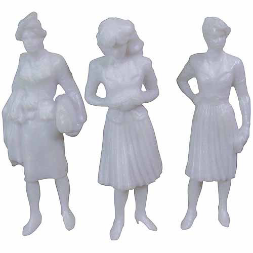 "SCP Female Figures, 3"", 3/pkg, White"