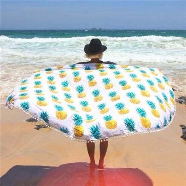 Beach Throw Towel Boho Tapestry Mandala Round Indian Hippie Mat Picnic Blankets