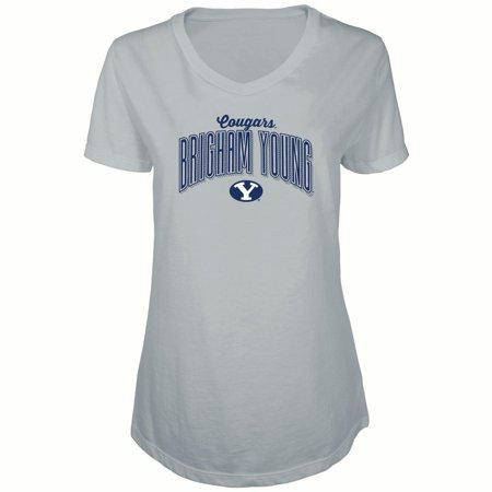 Women's Russell Heathered Gray BYU Cougars Tunic Cap Sleeve V-Neck - Byu Cougars Mens Basketball