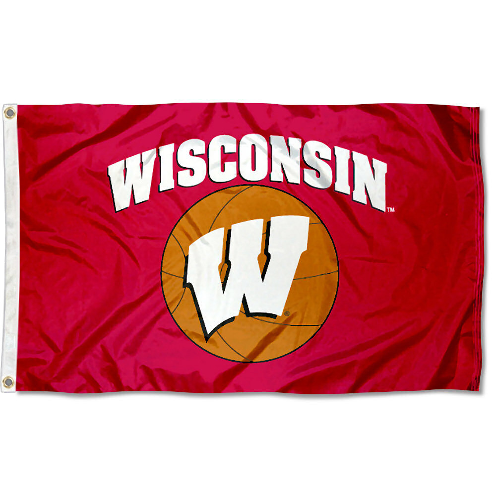 Wisconsin Badgers Basketball 3' x 5' Pole Flag