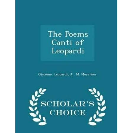 The Poems Canti of Leopardi - Scholar's Choice Edition - image 1 de 1