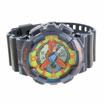 Sports Watches For Men Shock Water Resistant 30 M Funky Dark Blue Silicone Strap