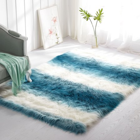 Mainstays Ombre Faux Fur Shag Rug Multiple Colors And