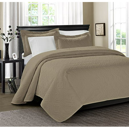 Unique Home 3 Piece Estancia Ultrasonic Embossed Bed In A
