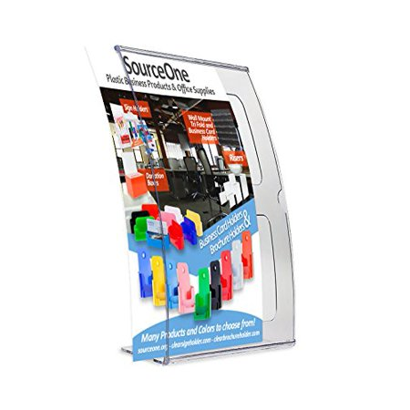 Acrylic Photo Holders - Source One 6 Pack Deluxe 4 x 6 Curved Sign Holder , Picture Frame Clear Acrylic Photo Frame