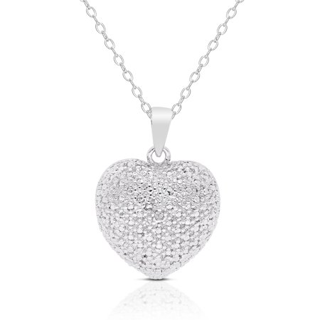 Finesque sterling silver diamond accent heart necklace walmart finesque sterling silver diamond accent heart necklace aloadofball Image collections