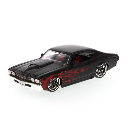 1969 Chevy Chevelle Ss Black Jada Toys Time Muscle 90213 1 24