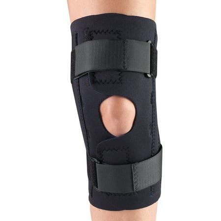 OTC Neoprene Knee Stabilizer Wrap - Spiral Stays, Black, 2X-Large