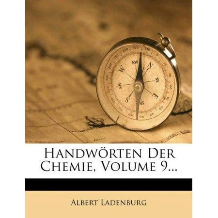 Handw Rten Der Chemie  Volume 9
