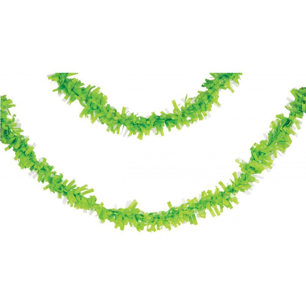 Creative Converting Fresh Lime Green Tissue Garland, 25 Ft.